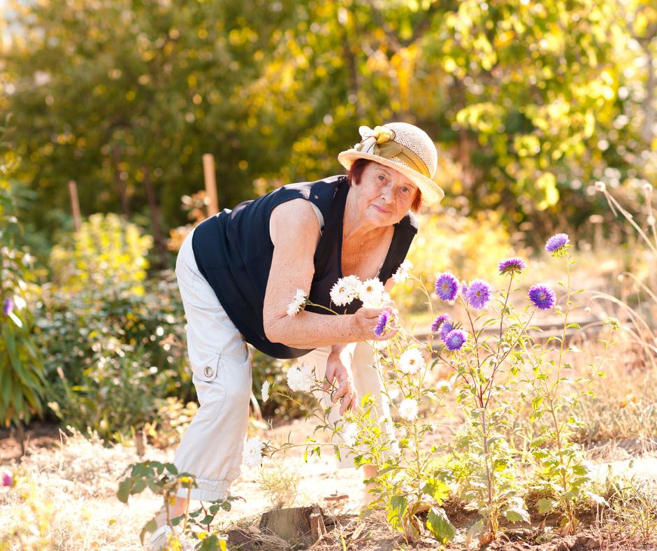 October blog older woman gardening